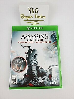 Assassin's Creed III 3 Remastered ( Microsoft Xbox One, 2019) Complete Tested