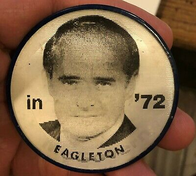 Vintage Pin VARI-VUE Political Button McGovern Eagleton President 1972 Campaign