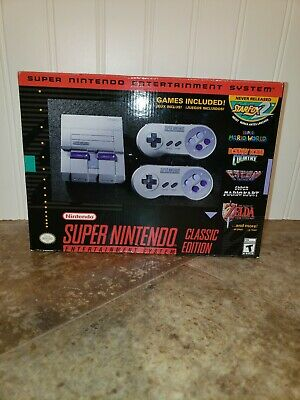 Super Nintendo Classic Edition SNES Mini Entertainment System Console 21 Games
