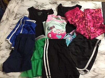 JUSTICE/ misc brands Girls Size 12, Shirts, shorts, skirt, leggings 10 Piece Lot