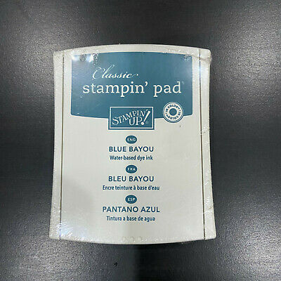 "Stampin Up ""CLASSIC"" INK PAD - ""Blue Bayou"" Dye Stamp - BRAND NEW"