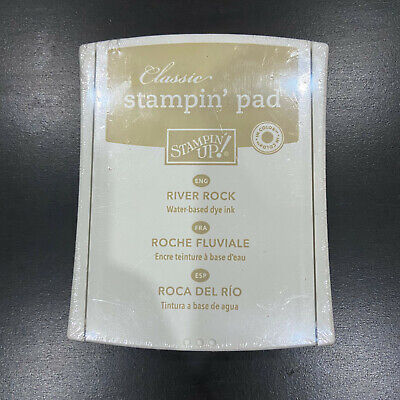 "Stampin Up ""CLASSIC"" INK PAD - ""River Rock"" Dye Stamp - BRAND NEW"