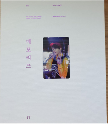 BTS Bangtan Boys Memories Of 2017 BOOK+5 DVD SET Jungkook PHOTO CARD Full Set