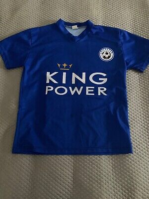 Boys Size 10-12 Leicester Short Sleeve Top (number 9 Vardy). As New
