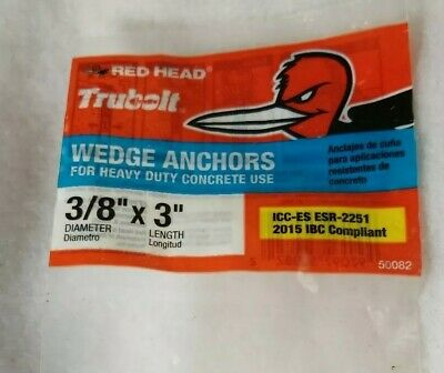 Red Head One-Piece Wedge Anchor Bolt