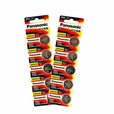 10 PCS Lots CR2032 3V Button Cell Coin PANASONIC Batteries for Watch Toys Power
