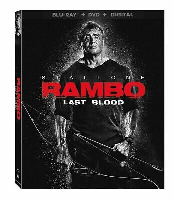 Rambo: Last Blood (Blu-Ray + DVD + DIGITAL +SLIPCOVER) NEW SYLVESTER STALLONE
