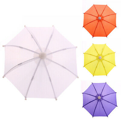 FT- Mini Solid Color Beads Girls Doll Accessory Rain Umbrella Play Toy Kids Gift