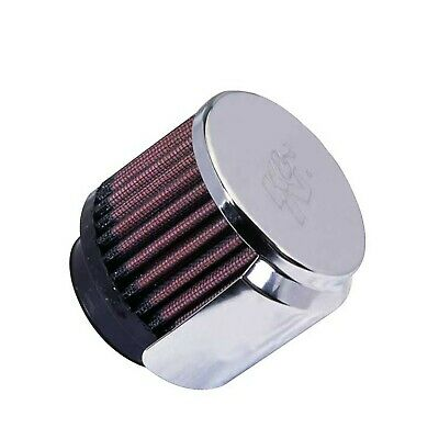 """K&N 62-1515 Crankcase Vent Filter/Breather 1 3/4"""" FG Chrome Top *1ST CLASS POST*"""