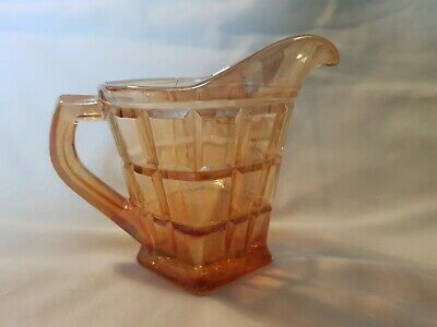 1920s/30s Marigold Carnival Glass Jug For Milk/cream
