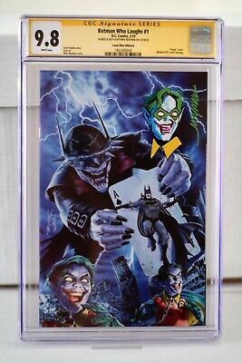 Batman Who Laughs #1 CGC SS 9.8 Mayhew virgin variant signed, sketched, remarked