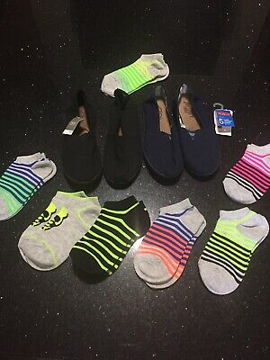 2 Pair Of Boys Next Pumps New And 7 Pairs Of New Socks Only 99p