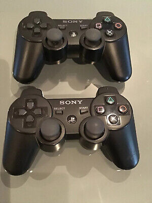 2 x Official Sony PS3 Dual Shock Sixaxis PS3 Wireless Controllers Model CECHZC2E