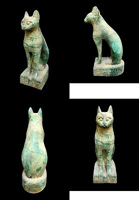 Bastet Egyptian Statue Cat Goddess Ancient Figurine Egypt Sculpture Bast Sitting
