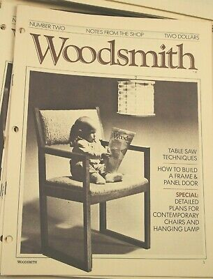 Lot Of  68 Vintage Woodsmith Magazines Issue 1-68 wood working 1978-1990 NICE!!!