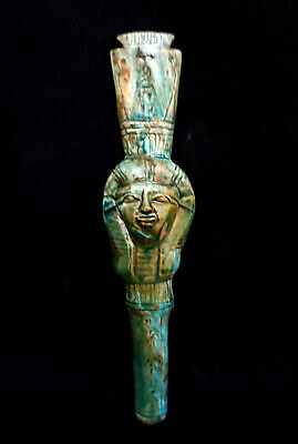Isis Statue Hathor Egyptian Goddess Figurine Ancient Egypt Sculpture Antiques