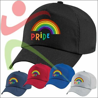 LGBT Pride Rainbow Lesbian Embroidered Hat Gay Bisexual Queer Transgender Hat