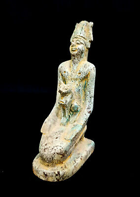 Ramses King Egyptian Ancient Statue Pharaoh Figurine Unique Art Antique Amulet