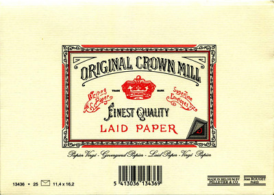 Original Crown Mill C6 Classic Line Texture Laid Envelope - Cream (Pack of 25)