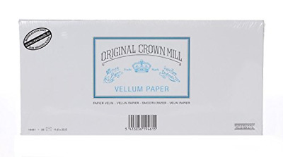 Original Crown Mill Classic Line DL Vellum Smooth Envelope - White (Pack of 25)