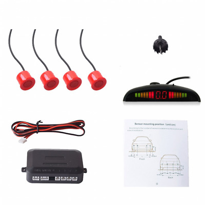 COCAR Car Auto Vehicle Reverse Backup Radar System with 4 Parking Sensors Distan