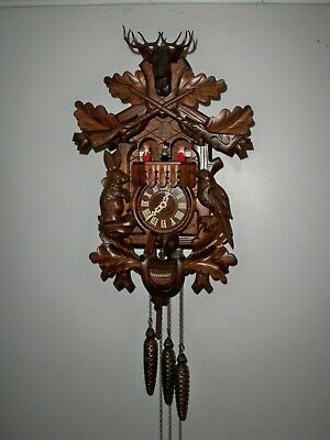 Vintage Black Forest Regula 1-Day Cuckoo Clock W/ Swiss Musical Dancers