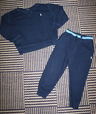 Boys Authentic Ralph Lauren Tracksuit Set Sweatshirt & Jogging Bottoms 3 - 4 Yrs