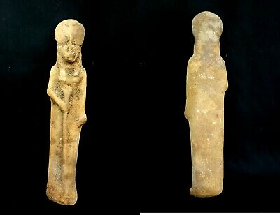 Sekhmet Egyptian Ancient Rare Bc Statue Goddess Antique Faience Egypt Lion War