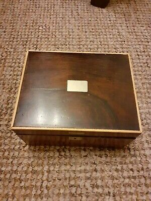 Beautiful Antique 19Th Century Rosewood With Silver Inlay Box
