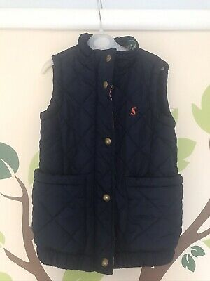 Girls Navy Padded Joules Gilet/Bodywarmer - Age 5 Excellent Used Condition