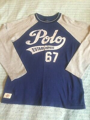 Boys Polo Ralph Lauren Raglan Top Bnwot Unwanted Gift 99p Size Medium See Desc