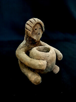 Ancient Idol Stone Circa Rare Terracotta Bce Indus Syro Fertility Near Eastern