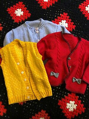 Three Vintage Toddler Knits- Size 3-4 Years