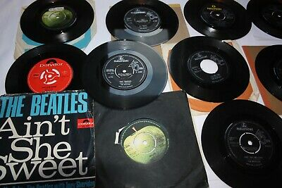 JOB LOT / COLLECTION OF 14 x THE BEATLES SINGLES / 45rpm's