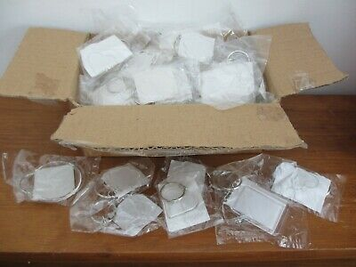 60 Blank Clear Acrylic Key-rings Photo Size Ass Heart/round/square/flower New