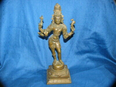 Very Ornate Antique Bronze or Brass Goddess Statue