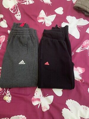 Girls Adidas Tracksuit Bottoms X 2 Pairs Age 9/10 Years
