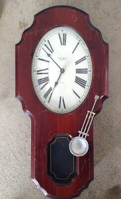 Verichron Regulator Pendulum Schoolhouse Clock Westminster Chime Wood Quartz USA
