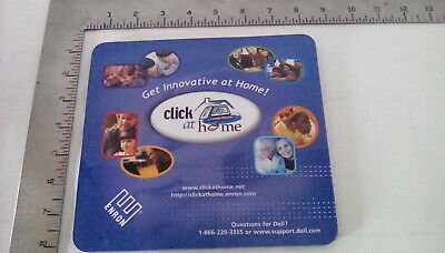 Enron Collectibles,  Enron / Dell Click At Home Mouse Pad