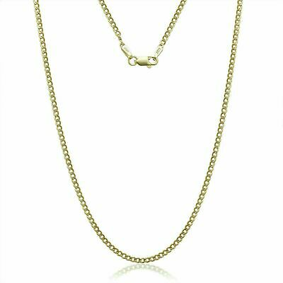 "14K Solid Yellow Gold Cuban Chain Necklace 16"" 18"" 20"" 22"" 24"" 26"" 30"""