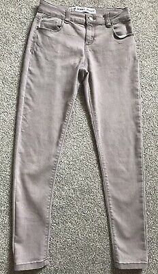 DENIM CO GIRLS AGE 9-10 YEARS GREY SKINNY JEANS 146 cm ADJUSTABLE WAIST PRIMARK