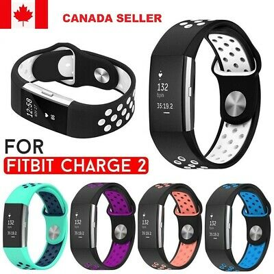 For Fitbit Charge 2 Replacement Watch Strap Doual Color Band Sports Wristband