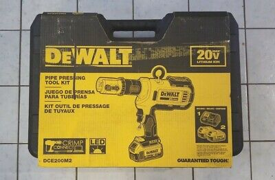 Dewalt DCE200M2 20V Max Cordless Press Tool without Crimping Heads
