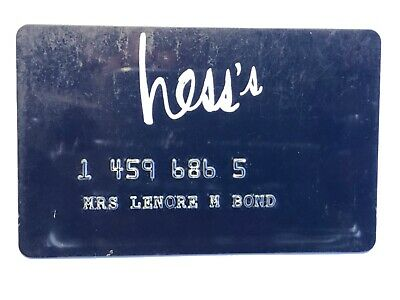 Vintage Hess's Department Store Credit Card - Allentown PA