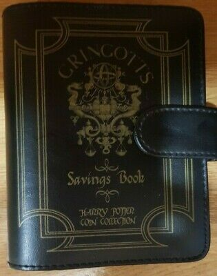 Harry Potter 24 Coin Collection Gringotts Savings Book + 4 Coins