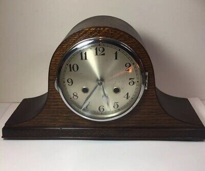 Napoleon Hat Vintage Mantle Clock Intermitent Spares Or Repair Chimes Pendulum