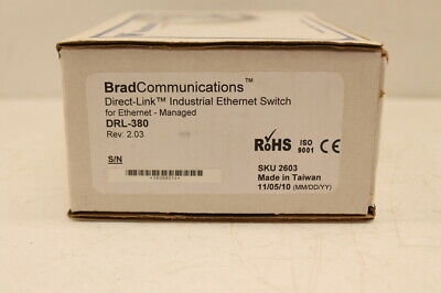 Brad Communications DRL-380 Industrial Ethernet Switch New In Box Sealed