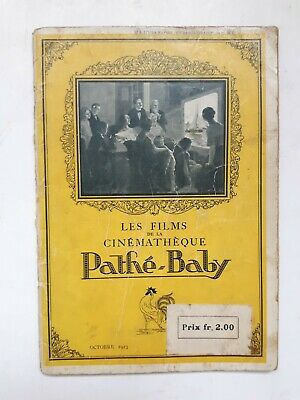 Vintage Pathé-Baby 1923 Catalogue 72 Pages Complet 18.1X12.7Cm Chaplin O'galop