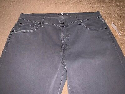 NWT 7 For All Mankind Carsen Straight Jeans Grey 36