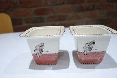 Wedgwood - Sarah's Garden - Queens Ware - Candle Holder/Small Pot x. 2